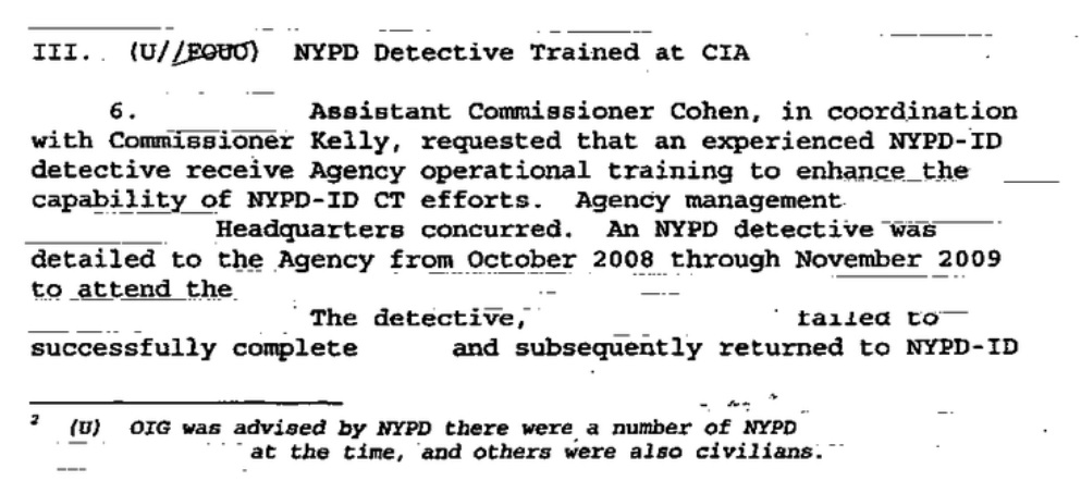 What is - and isn't - in the report about the CIA and NYPD's
