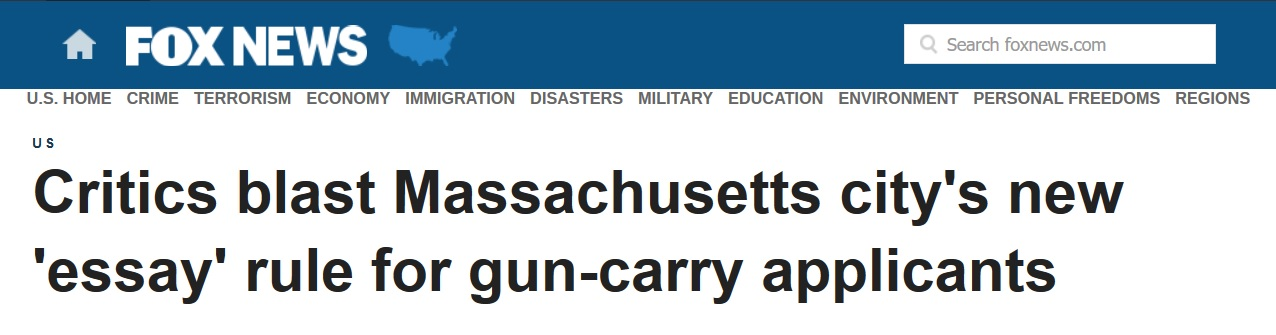 "lowell s more lenient firearm policy blasted for not being lenient  local gun rights groups quickly condemned the new policy gun owners action league goal of massachusetts called the ""essay"" requirement ""an illegal poll"