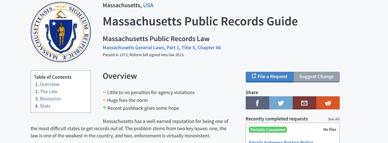 all free public records for massachusetts