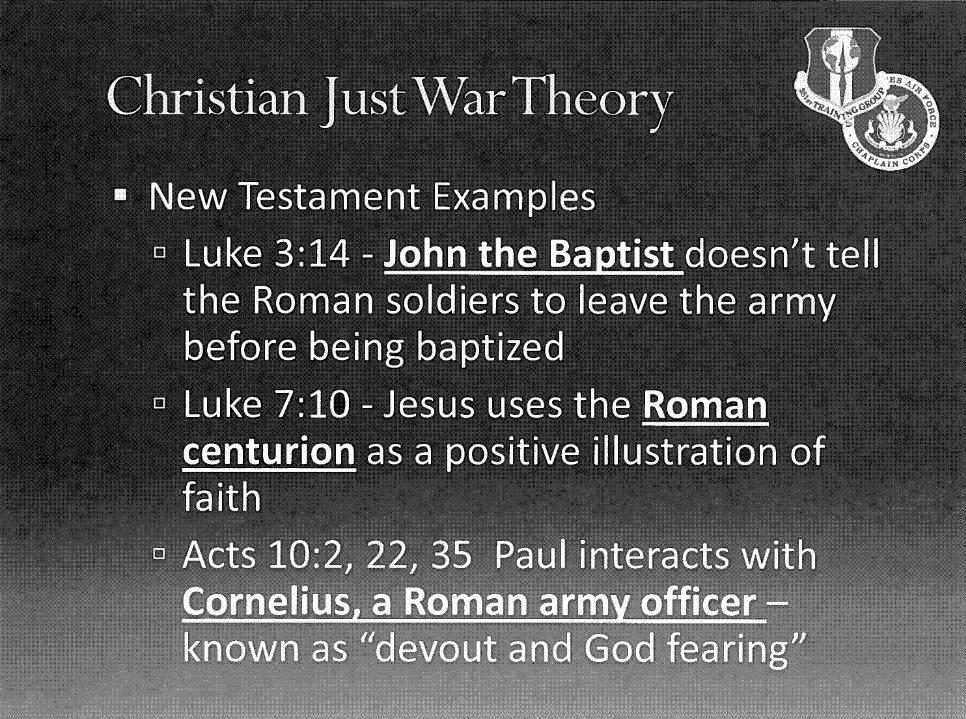 christianity and the just war theory essay Christianity and violence the neutrality of this article is disputed relevant discussion may be found on the talk page please do not remove the just war theory.