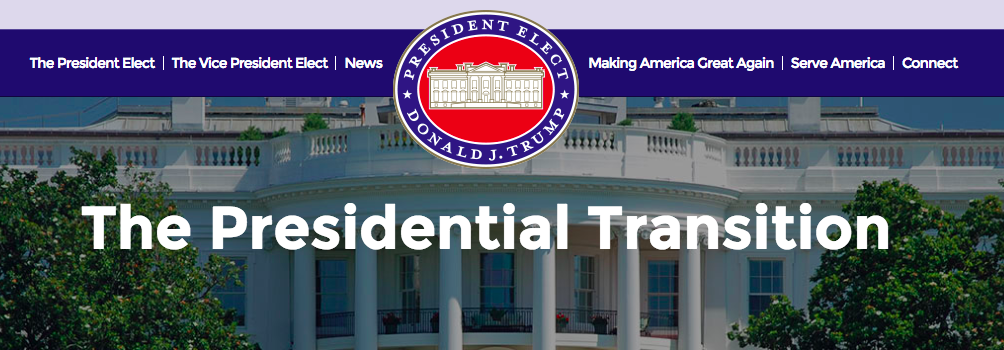 Donald Trump Transition Website