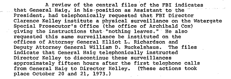 Watergate Haig Surveillance