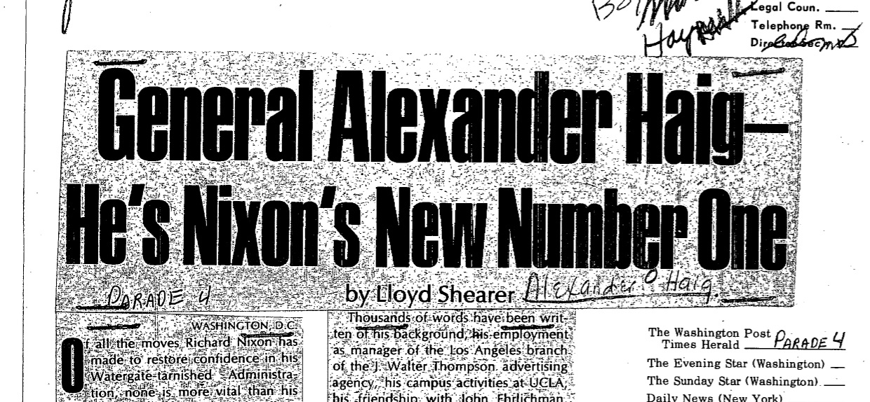 Watergate Nixon Newspaper