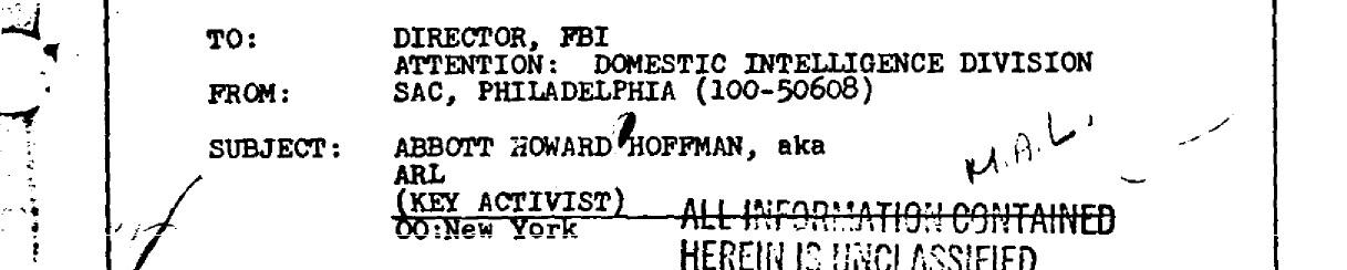 Abbie Hoffman FBI Header