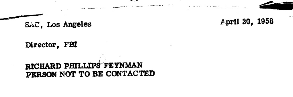 Richard Feynman Do Not Call