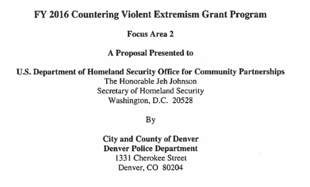 Denvers counterterror program sets sights on black lives matter the grant proposal details dpds plan to prevent violent extremist recruiting in the community and outlines what has now become a fairly standard blueprint malvernweather Gallery
