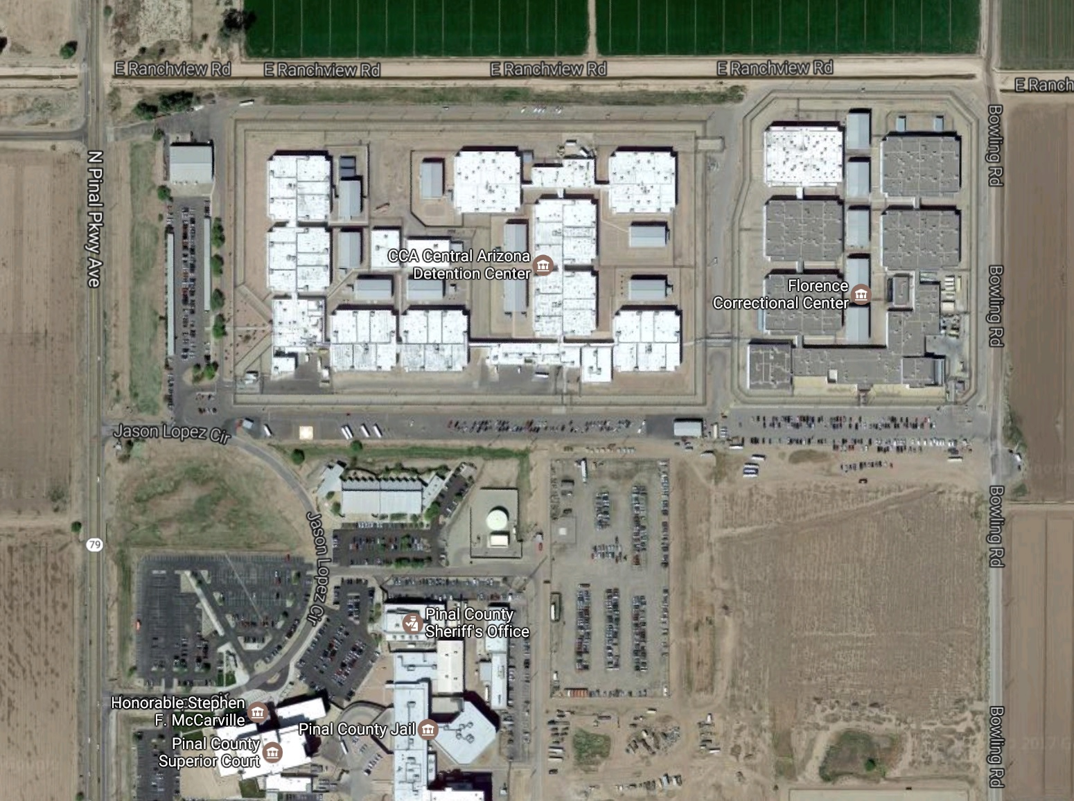 Map Of Arizona Prisons.The Private Prison Project Heads To Florence Arizona Muckrock